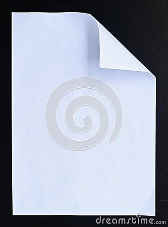 White paper black isolation