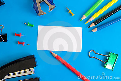 White paper card and stationery