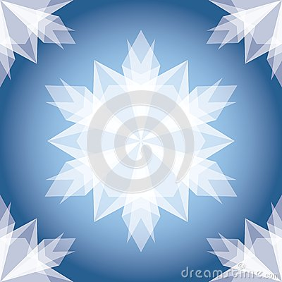 White Paper Christmas Snowflake.