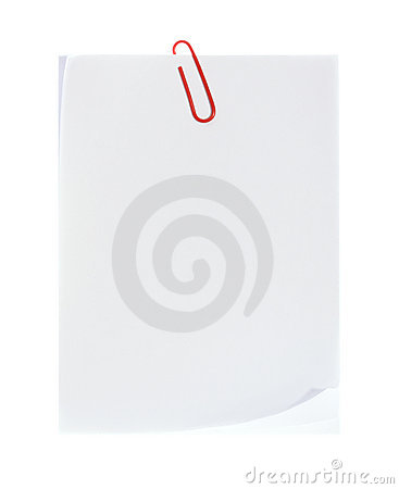 White Paper with Clip