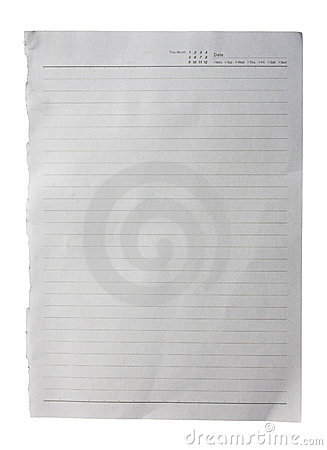 White paper with lines texture