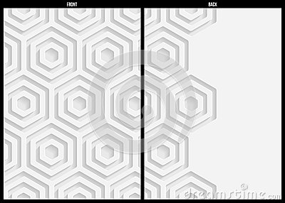 White paper pattern, abstract background template for website, banner, business card, invitation, postcard Vector Illustration