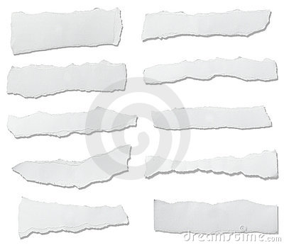 White paper ripped