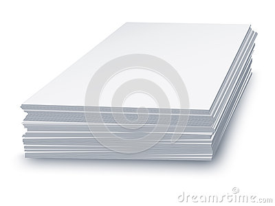 White paper stacked