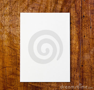 White paper on table