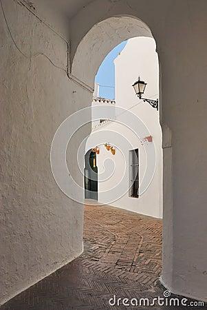 White passageway