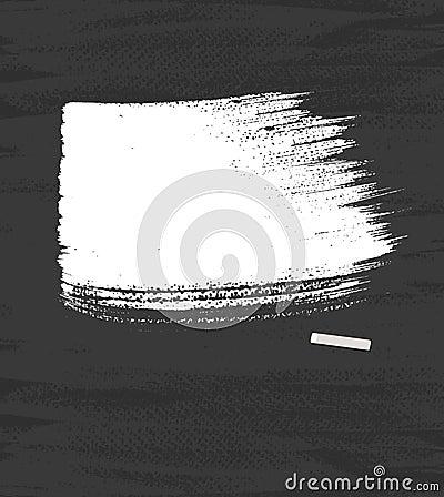 White pastel on blackboard