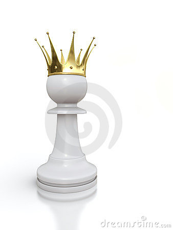 White pawn king