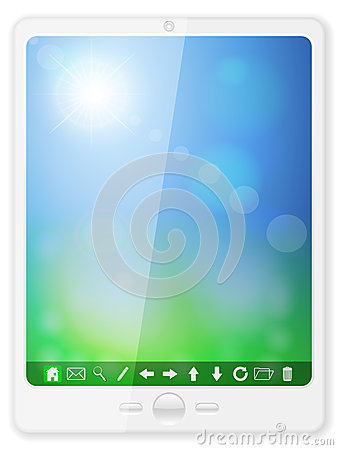 White pc tablet