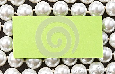 White pearl and card
