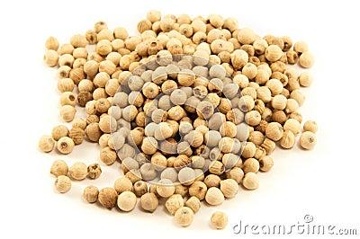 White pepper grains