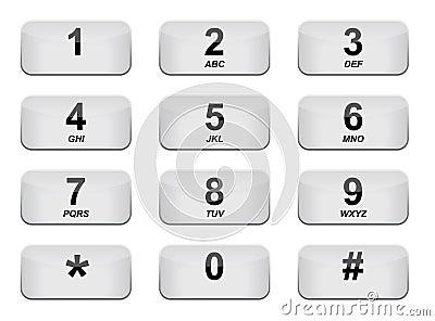 White phone keyboard