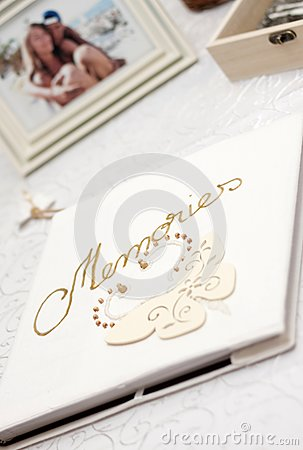 White photo album