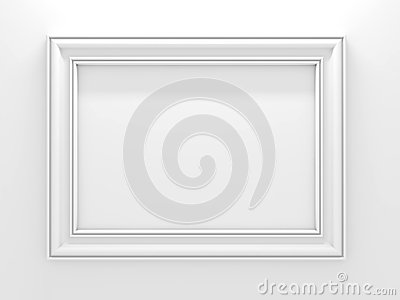 White photo frame.