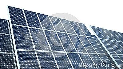 on white photovoltaic Panel