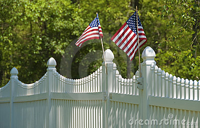 White picket fence, july 4th
