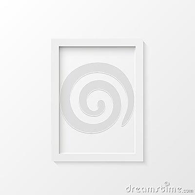 White picture frame illustration Vector Illustration