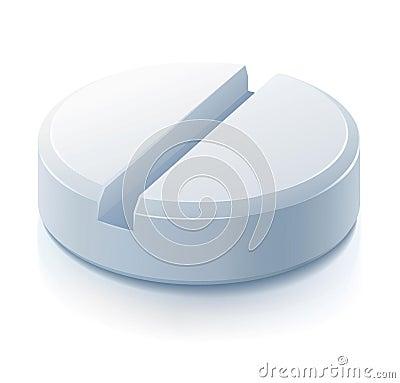 White pill drug medication