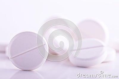 White pills medicine headache aspirin paracetamol