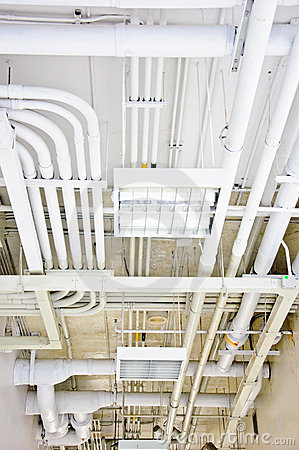 Free White Pipe System Royalty Free Stock Photography - 21480897