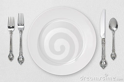 White Place Setting (with clipping path)
