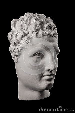 Free White Plaster Bust Sculpture Of A Man Hermes Stock Photos - 86082643