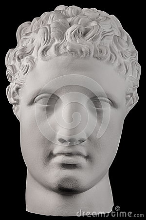 Free White Plaster Bust Sculpture Of A Man Hermes Stock Images - 86082714