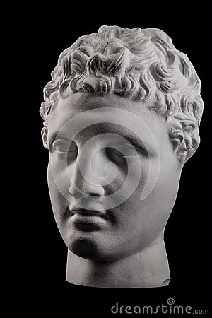 Free White Plaster Bust Sculpture Of A Man Hermes Stock Images - 86082974