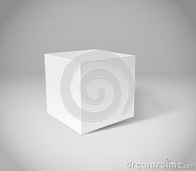 White plaster cube