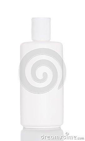 Free White Plastic Bottle  On White Stock Photos - 24331933
