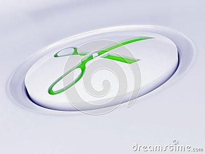 White plastic button