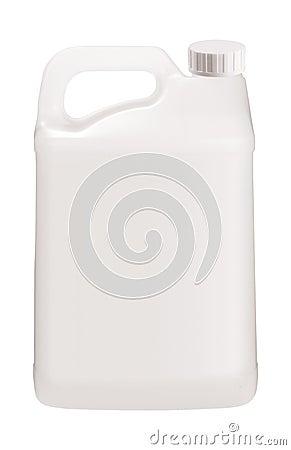 Free White Plastic Jerrycan On White Stock Photography - 126622052