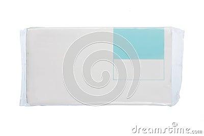 White plastic pack for new design