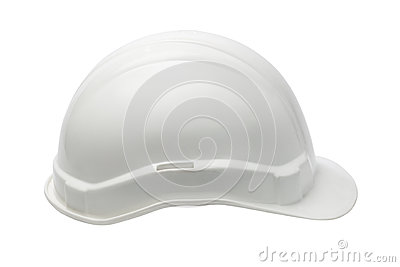 White Plastic safety helmet