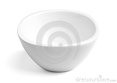 White Porcelain Bowl on White