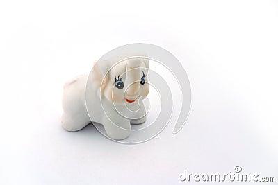 White porcelain elephant