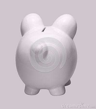 White porcelain piggybank