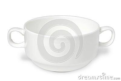 White porcelain soup cup