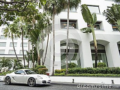 White Porsche Editorial Photography