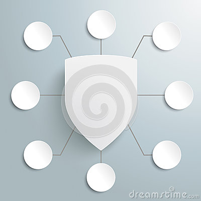 White Protection Shield Infographic Design 8 Optio