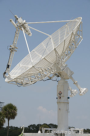 White radar dish