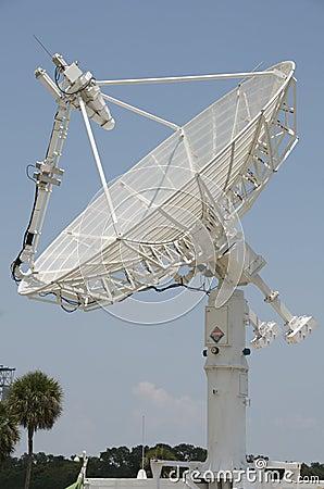 White radar dish