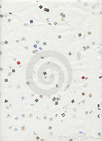 White Recycled Paper background newspaper confetti
