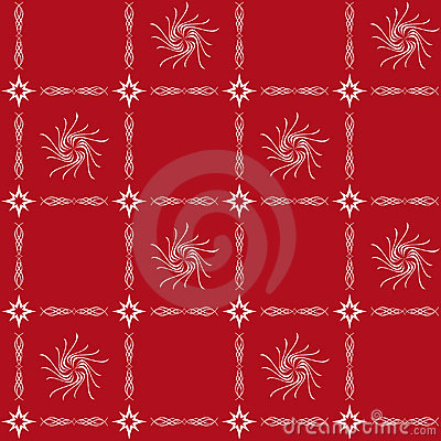 White and red seamless tracery - vector
