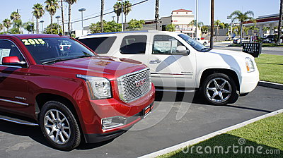White and Red SUV Editorial Stock Image
