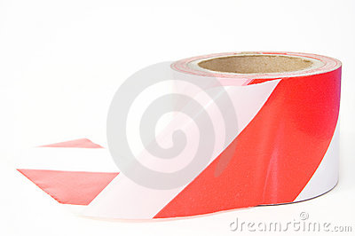 White and red tape