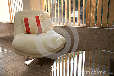 White relaxing  chair