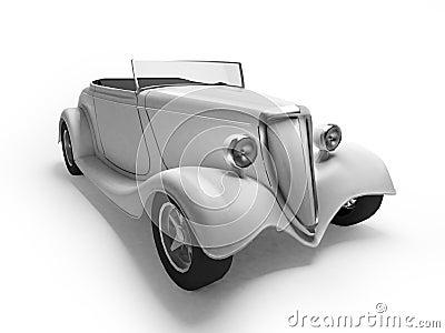 White retro cabriolet