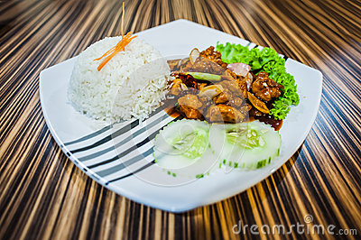 White Rice with Chicken