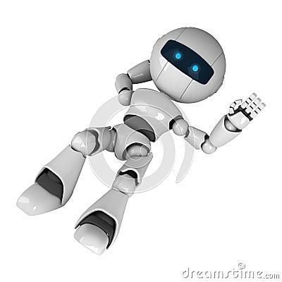 White robot lie